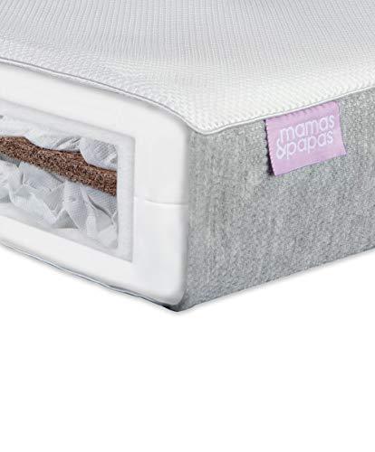 Mamas & Papas Mattress for Cotbed Baby Luxury Twin Spring Colchón para Cama Cuna Muebles-140 x 70 x 10 cm, Primavera de Lujo