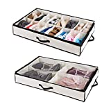 Woffit Under the Bed Shoe Organizer Fits 16 Pairs + 4 Pairs Boots –...