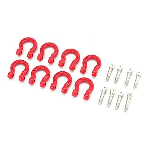 Monlladek 4 Paare 1/10 Metallanhänger Haken Schäkel Rettungshaken für 1/10 RC Auto Modell Ersatzteile Axial SCX10 90046 D90 CC01