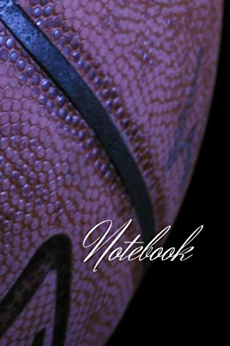 NOTEBOOK: BASKETBALL, SPORT, 6X9, 200 PAGES, IN LINE, BLACK AND ORANGE.: BASKETBALL, SPORT, 6X9, 200 PAGES, IN LINE