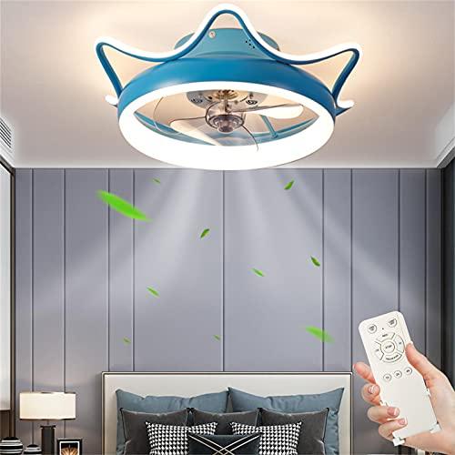 Ventilador de Techo con Lámpara 80W Regulable Lámpara de Techo con Control Remoto,Silencioso Ventilador con Temporizador 3 Temperaturas de Color & 4 Velocidades Luz de Techo para Cuarto Salón Ø55cm