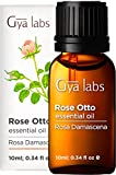 Gya laboratorios de aceite esencial de rosa para el alivio de tensión, Cuidado de la piel y la relajación - Pure aromaterapia aceite de rosa terapéutica aceite esencial - 10ml