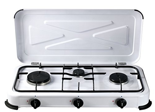 Bcalpe bg03bsm–Cucina Gas 3Fuochi, 33.40X 60.50X 10cm, Colore: Bianco