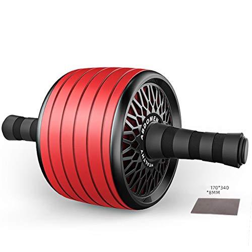 Rueda Ab Rueda de rodillo AB con estera de rodilla, gimnasio AB Ejercicio, Trainer de ABS Toaller Slide Sliders, AB Kit de rodillos de rueda para ejercicio muscular abdominal, rojo Herramienta de gimn