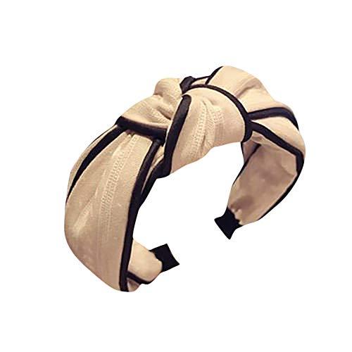 Dorical Stirnband Vintage Haarbänder Floral Bedruckt Twisted Elastische Stirnbänder Frauen und Mädchen Haarschmuck Haarreife Haarband Stirnband Satin vintage Kopf Warp mit verknotetes(Rosa)