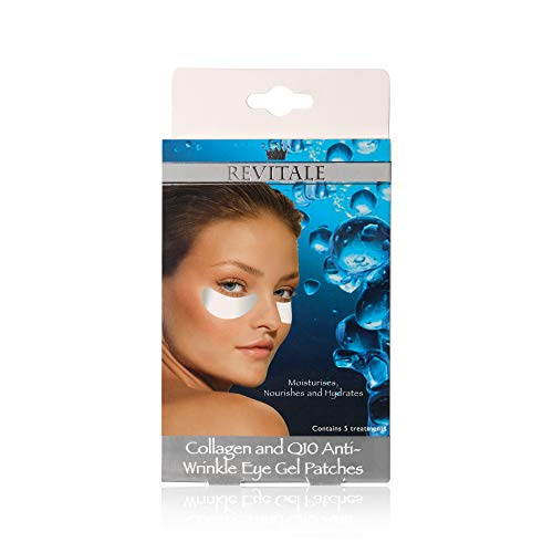 10 Box of Eye Gel Patches Of Revitale Collagen & Q10 Anti-Wrinkle Eye Patches, Total 50 Pair by Revitale