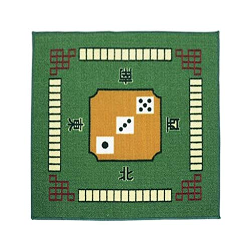 TX GIRL 1pc Mahjong Mantel Mat Silencio Cubierta De Mesa Mahjong Antideslizante Mat 79cm For Juego De Mesa Juego De Cartas (Color : Green)