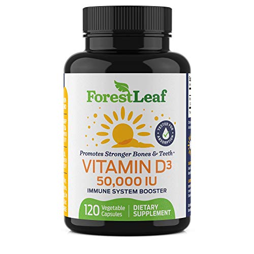 Vitamin D3 50,000 IU Weekly Supplement - 120 Vegetable Capsules - by ForestLeaf