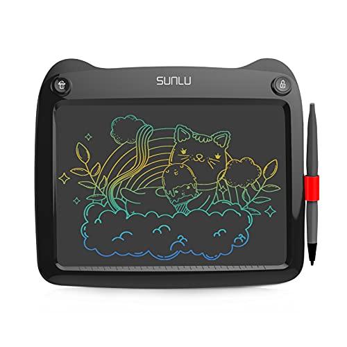 SUNLU Tableta de Escritura LCD, Dibujo y Escritura para niños y Adultos, Papel de Escritura a Mano para Oficina, Escuela, hogar (9 Pulgadas Black)