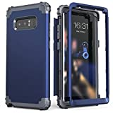 Galaxy Note 8 Case, Note 8 Case Blue for Men, IDweel 3 in 1 Shockproof Slim Hybrid Heavy Duty Protection Hard PC Cover Soft Silicone Rugged Bumper Full Body Case for Samsung Galaxy Note 8, Blue