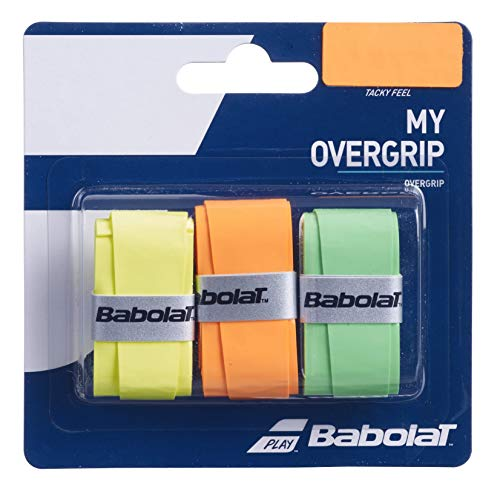 Babolat My Overgrip X3 Accesorio Raqueta de Tenis, Unisex Adulto, Naranja/Orange, Talla Única