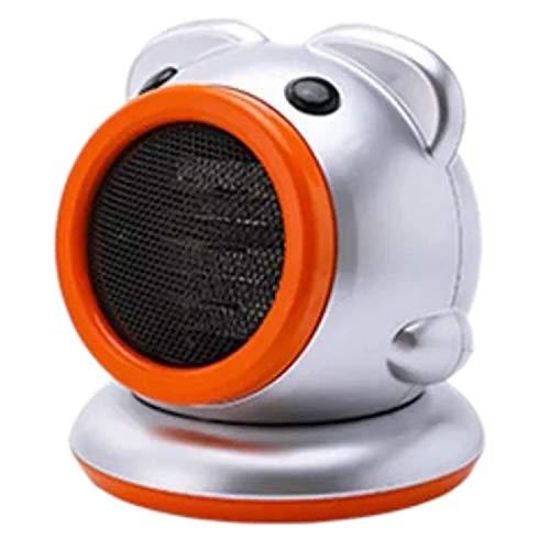 ROSELI Calentador Calentador EléCtrico PortáTil Ventilador Calentador Interior PequeeO, con Termostato Ajustable Calentador Interior Giratorio, Plateado