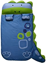 Milo&Gabby Nap Mat with Duvet, Removable Pillow and Blanket, 320 Thread Count Cotton (Dinosaur - Dylan)