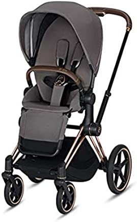 Cybex 2019 Priam 3 Complete Stroller in Manhattan Grey with Rose Gold Frame