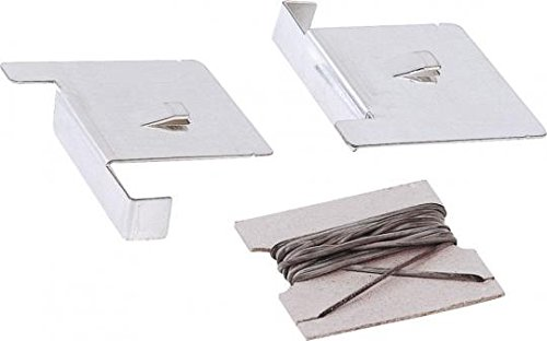 Fliesenecken mit Gummischnur - 1,4m, Weißblech mit Haken