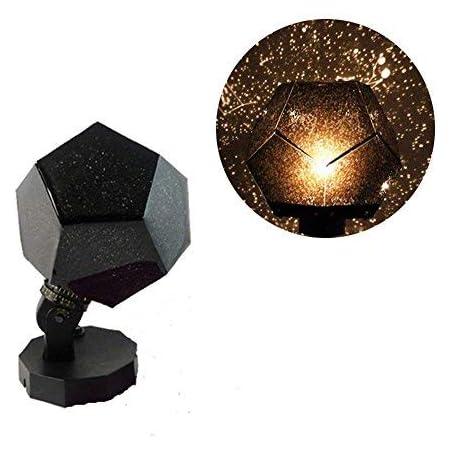Yongan Star Projektorlampe 360 Grad Romantisch Astro Planetarium Sternenhimmel Projektor Gutes Geschenk Für Kinder Haus Dekoration Schlafzimmer Schwarz Freie Größe Beleuchtung