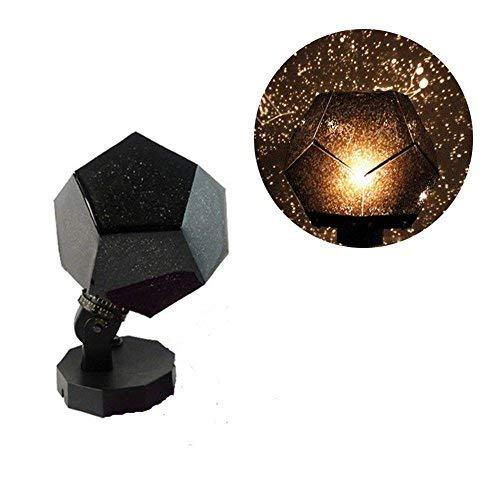 Yongan Stella Proiettore Lampada, 360 Gradi Romantico Astro Planetario Celeste Star Proiettore, Good Regalo per Bambini Camera da Letto Casa Decorazione - Nero, Free Size