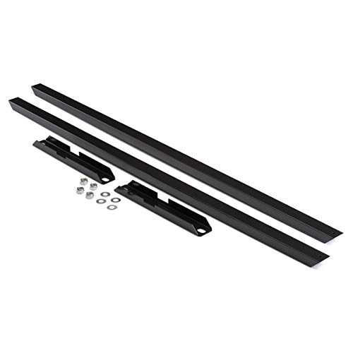 BlackPath - Fits Ford Mustang Subframe Connector Kit Fox Body (Black) Steel