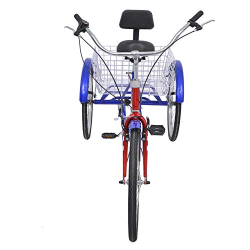 MOPHOTO Erwachsenen-Dreirad 7 Gang Dreirad für Erwachsene, Meridian 26 Erwachsene Dreirad für Männer/Damen/Senioren - 4