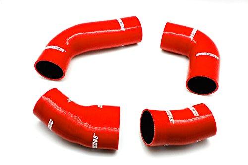 Autobahn88 Kit di tubi in silicone SuperCharger Modello ASHK224-RD-WC (Rosso - con morsetto Set)