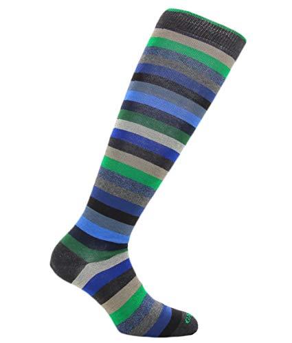 Gallo calze uomo righe multicolor in cotone art. AP103118 colore antracite taglia unica 40-45