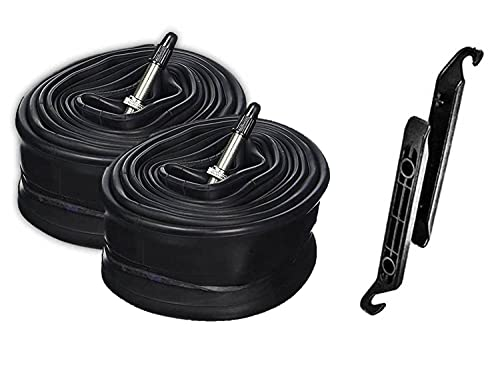 Continental Tour 28 700x32-47 42mm Presta Inner Tube Bundle - 2 Pack w/ 2 Levers