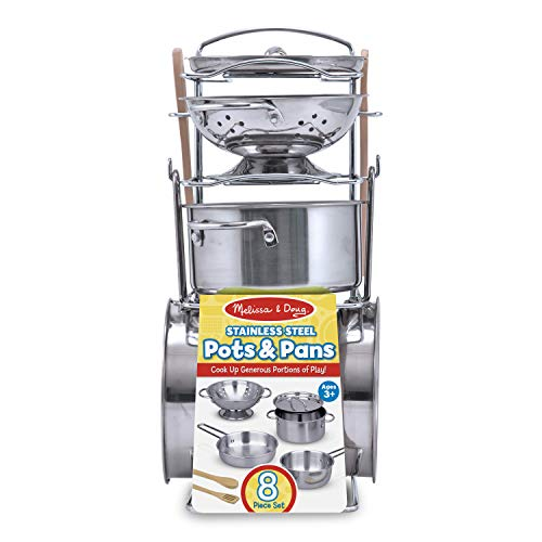 Melissa & Doug Stainless Steel Pots and...