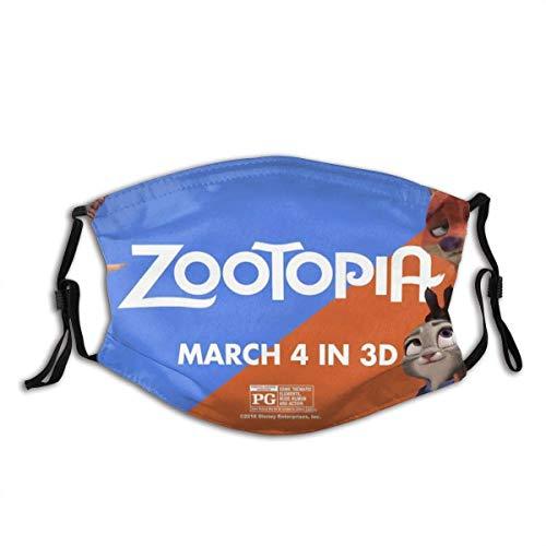 zhengdengshuibaihuodian Winddichtes Zootopia-Poster für Erwachsene mit austauschbarem Aktivkohlefilter