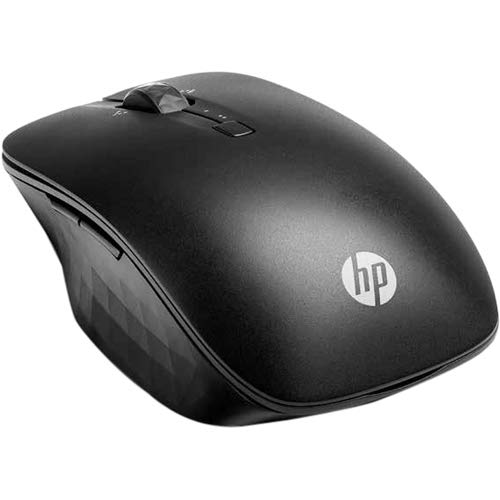 HP Wireless Travel Mouse Black - Bluetooth Connectivity - Control two PCs from ONE Mouse - Customize 4 programmable buttons - Up to 24 Months battery life w/ 2 Batteries - Slide across practically any