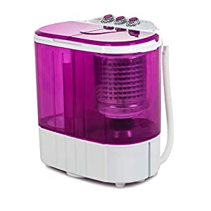 Mini Portable Washing Machine, Kuppet 10lbs Compact Washing Machine, Small Semi-Automatic with Timer Control, Wash&Spin Twin Tub Suit for Apartments, Dorms, RV Camping (Red, 10lbs)