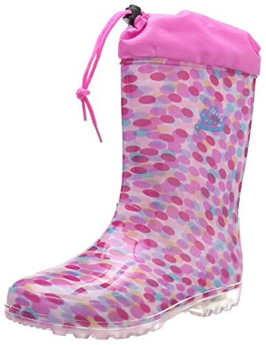 Lico Mädchen Power Blinky Gummistiefel, Pink (Pink/Rosa/Türkis Pink/Rosa/Türkis), 25 EU