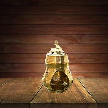 Aadit Crreation Brass Incense Holder/Diffuser for Home/Puja Room (Brass Insence Burner)