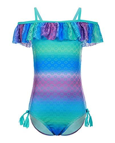 iDrawl Schwimmanzug Kinder Badeanzug für Mädchen Festival Cosplay Badebekleidung,Größe S