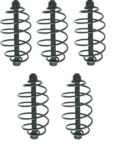 5Stk York Futterspirale Futterkorb Spiral Futter Korb Feeder Angelkorb Feeder (7,5cm (5 Stück))