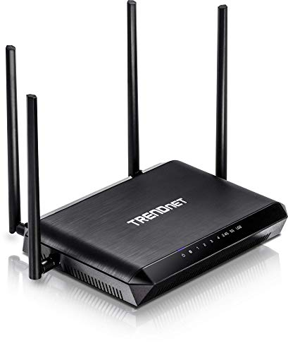 TRENDnet AC2600 MU-MIMO Wireless Gigabit Router, TEW-827DRU, Increase WiFi Performance, WiFi Guest Network, Gaming/Internet/Home Router, Beamforming, 4K streaming, Quad Stream, Dual Band Router,Black