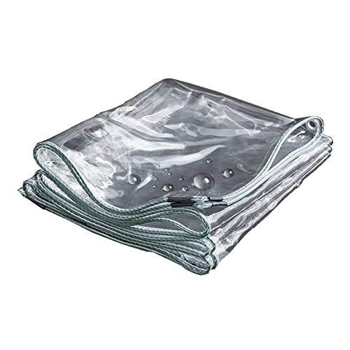 GCZ Lona Transparente Impermeable con Ojales, Material PVC Plegable, Lona para Barco a Prueba de Desgarros y Protección contra el Viento para Cubrir Jardines Plantas/Invernaderos/Mobiliario de Terra