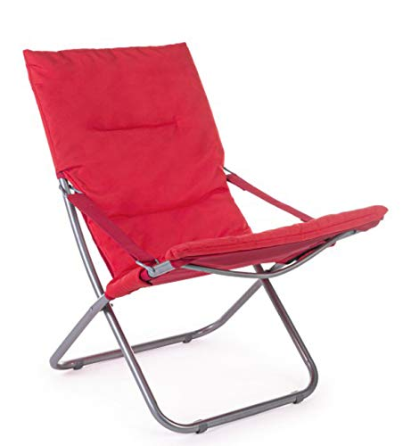 PEGANE Chilienne Relax matelassé Coloris Rouge - Dim : L 85 x P 58 x H 82 cm