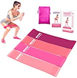 YKHENGTU Resistance Bands,Resistance Exercise Bands for Legs and Butt Home Fitness, Stretching, Strength Training,Physical Therapy,Natural Latex Workout Bands,Pilates Flexbands,12' x 2'(Set 4