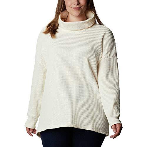 Columbia Chillin Sudadera Polar, Mujer, Blanco (Chalk Thermal), XL