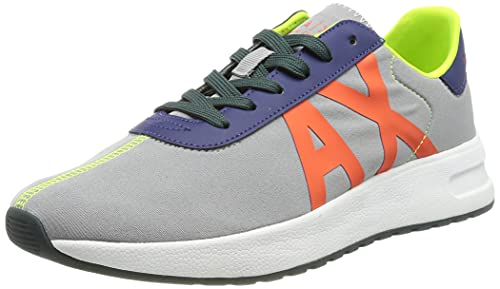 Armani Exchange Dusseldorf Volume Sole Running, Zapatillas Hombre, Gris, 41 EU