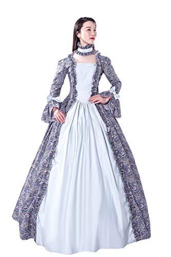 KEMAO Viktorianisches Rokoko-Kostüm Damen Kleid Party Kostüm Maskerade - - XXX-Large:Höhe 68/70'...