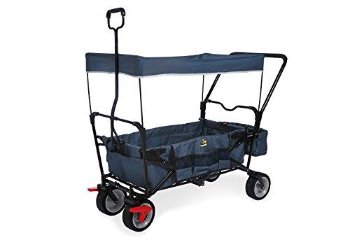 Pinolino Klappbollerwagen Paxi dlx Comfort mit Bremse, Sonnendach, Tragetasche, komfortabler Schiebegriff, Tragfähigkeit 70 kg, marineblau
