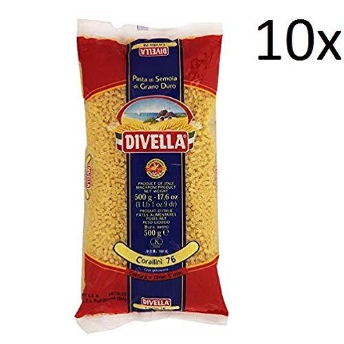 10x Pasta Divella 100% Italienisch N° 76 Corallini 500 g