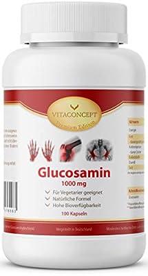 Glucosamin - 1000 mg hochdosiertes Extrakt pro Kapsel *100 Kapseln aus Cellulose* Glucosamine das Original von VITACONCEPT