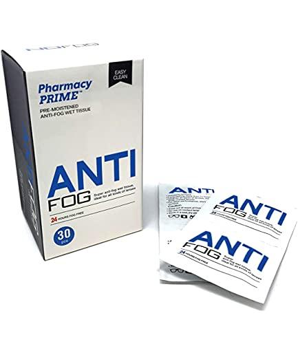 Anti-mist reinigingsdoekjes voor alle lenstypes - Hoge prestaties veegt tot 24 uur lang mee - Pack van 30 doekjes