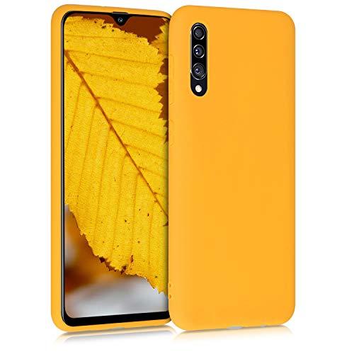 kwmobile Cover compatibile con Samsung Galaxy A30s - Custodia in silicone TPU - Backcover protezione posteriore- giallo zafferano