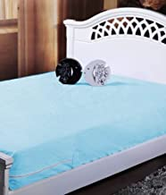 Homefab India Blue Waterproof Mattress Protector (91X189X12 Cm Each) - Set Of 2