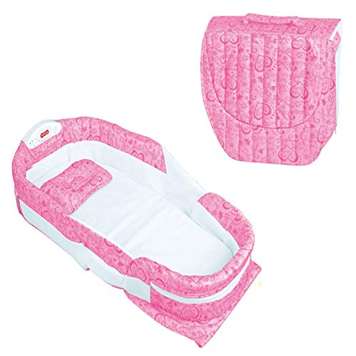 Multifunktionales Bettwiege Bett Tragbare Faltbare Tasche Tragetasche Wickeltasche Wickeltasche Baby Krippe Musik Rosa