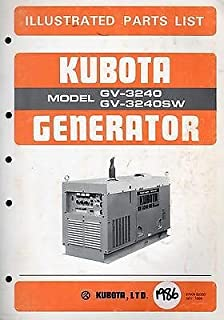 KUBOTA GENERATOR MODEL GV-3240 & GV3240SW ILLUSTRATED PARTS MANUAL NOV 1986