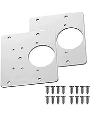 2/4PCS Hinge Side Plate Repair Piece, Hinge Repair Brackets, Cabinet Hinge Repair Brackets, Kitchen Cupboard Door Hinge Repair Plate Kit